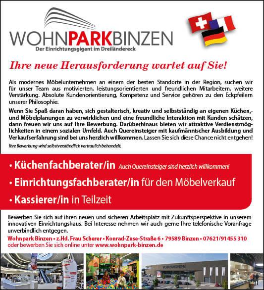 Stellenangebote & Karriere im Wohnpark Binzen