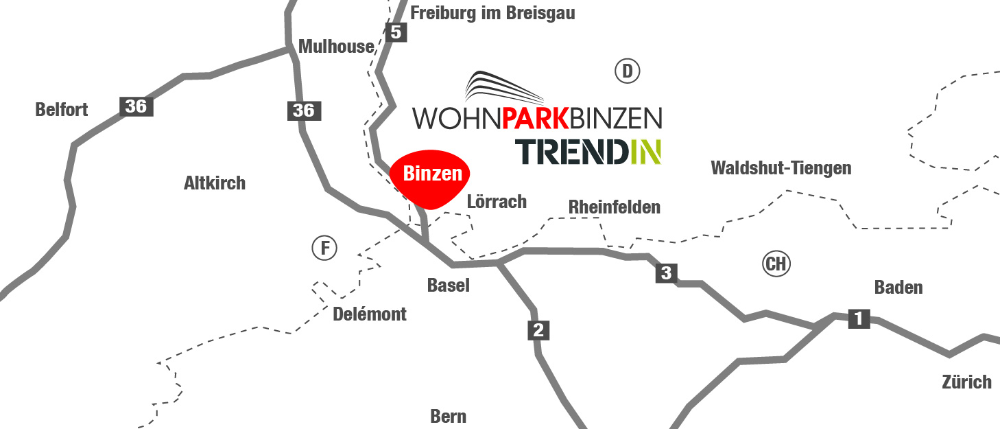 Karte Wohnpark Binzen Trendin